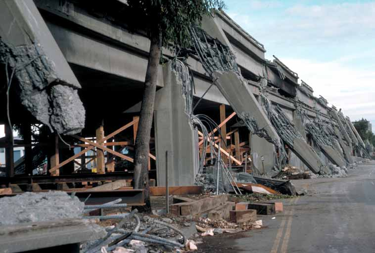 Loma Prieta Earthquake Cypress Structure collapse - October 17, 1989