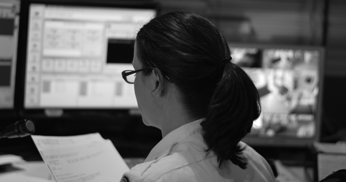 SFSU Police Department dispatcher busy at work