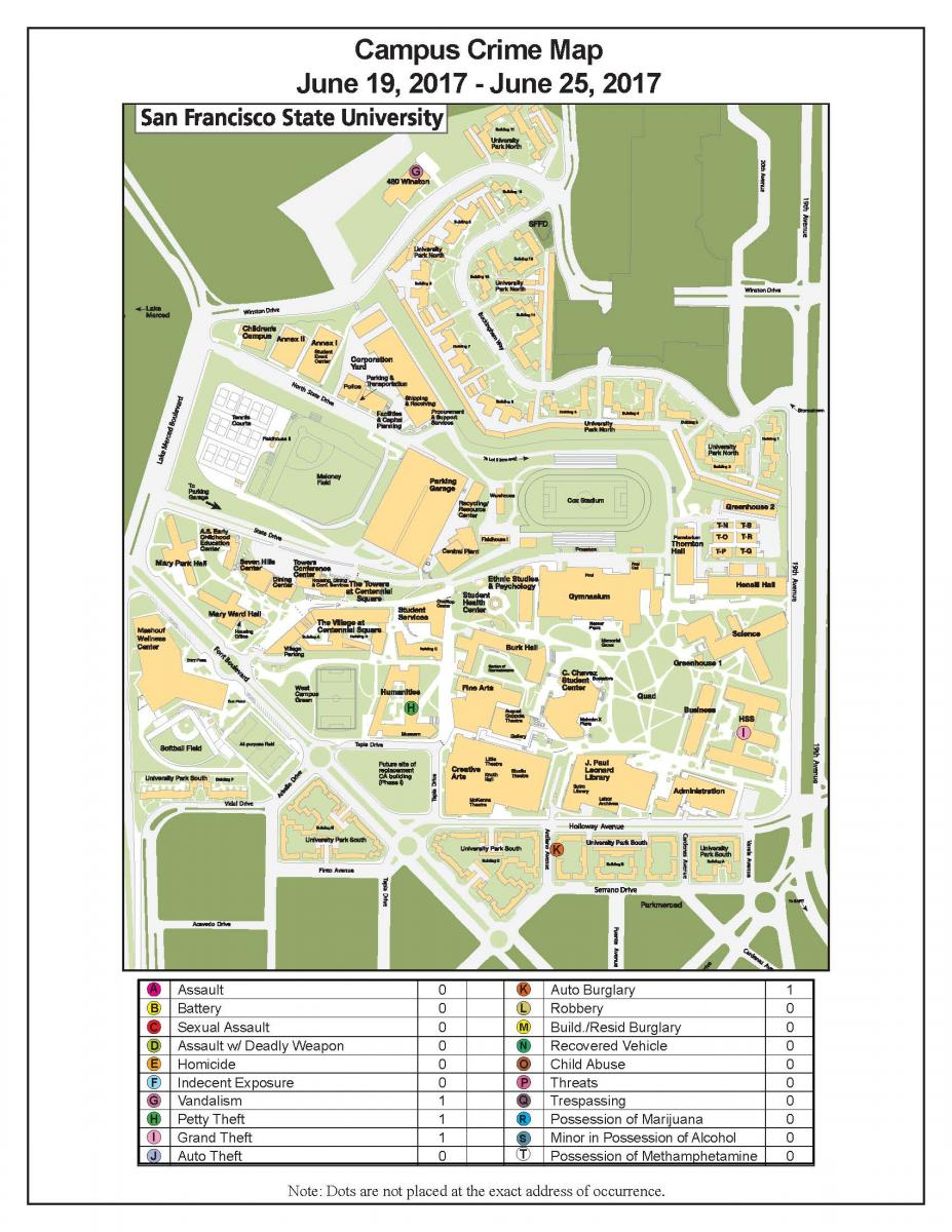 Campus crime map