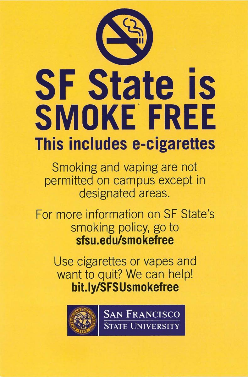 Smoke Free Flyer Back