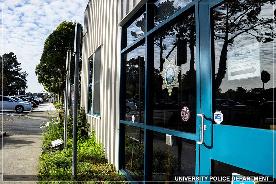 SFSU Police Department front of building image